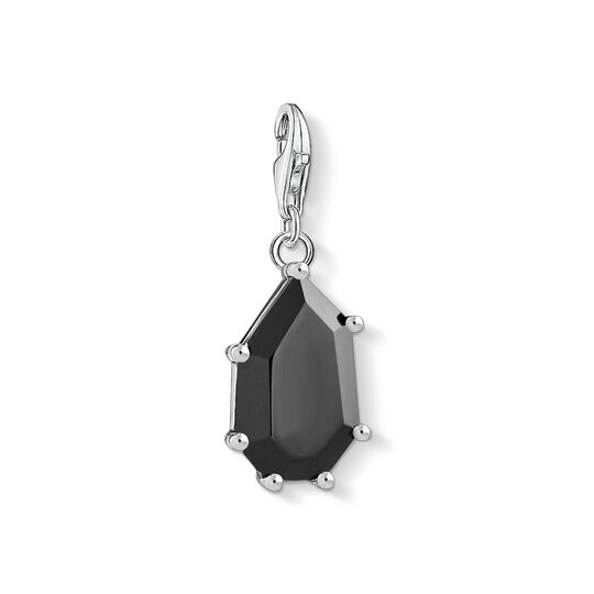 Charm pendant black stone from the Charm Club collection in the THOMAS SABO online store