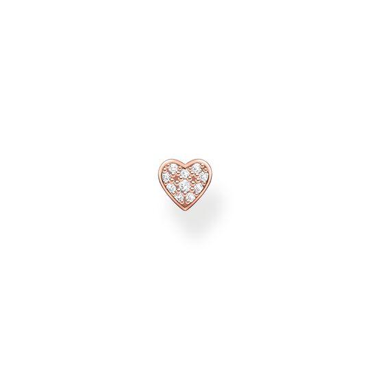 Clou d'oreille unique cœur avec pavé or rose de la collection Charming Collection dans la boutique en ligne de THOMAS SABO
