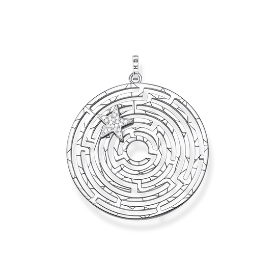 pendant Labyrinth with silver star from the Glam & Soul collection in the THOMAS SABO online store