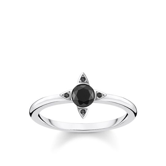 ring Black stones, silver from the Glam & Soul collection in the THOMAS SABO online store