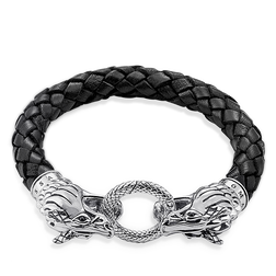 "leather strap ""dragon"" from the Rebel at heart collection in the THOMAS SABO online store"