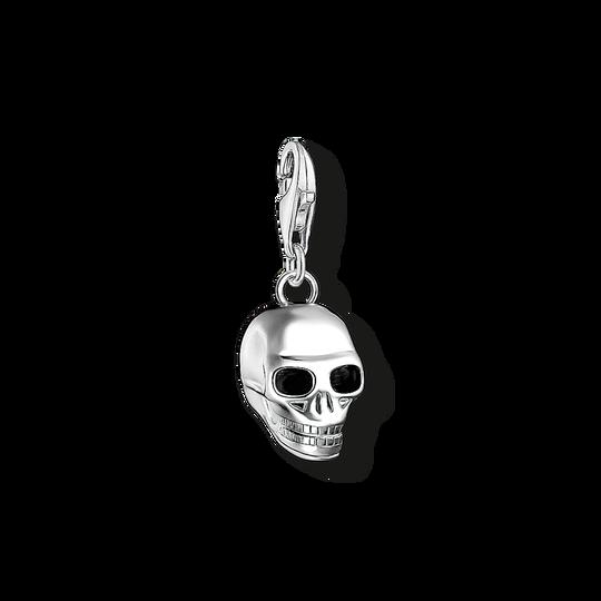 pendentif Charm tête de mort argenté de la collection Charm Club dans la boutique en ligne de THOMAS SABO