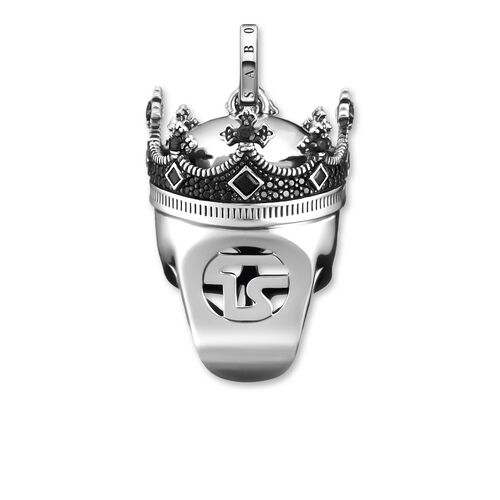 "pendant ""Skull crown"" from the Rebel at heart collection in the THOMAS SABO online store"