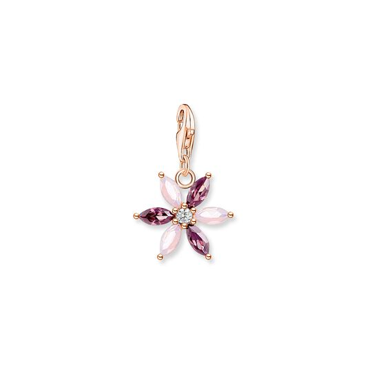 Charm pendant flower pink stones rose gold from the Charm Club collection in the THOMAS SABO online store
