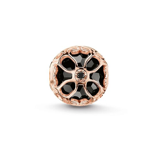 """Bead """"black lotus flower"""" from the Karma Beads collection in the THOMAS SABO online store"""