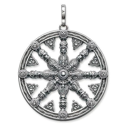 """pendant """"Karma Wheel blackened"""" from the Karma Beads collection in the THOMAS SABO online store"""