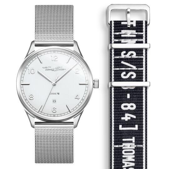 SET CODE TS montre blanche et bracelet noir urbain de la collection  dans la boutique en ligne de THOMAS SABO