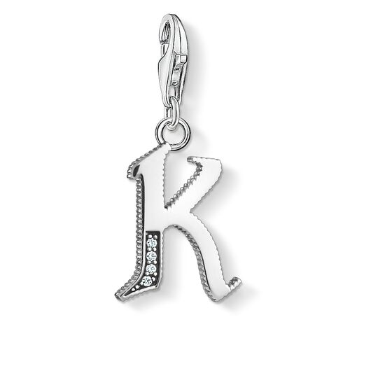 Charm pendant letter K silver from the Charm Club collection in the THOMAS SABO online store