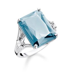 ring Blue stone, large, with star from the Glam & Soul collection in the THOMAS SABO online store
