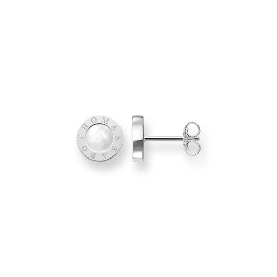 ear studs classic white from the  collection in the THOMAS SABO online store