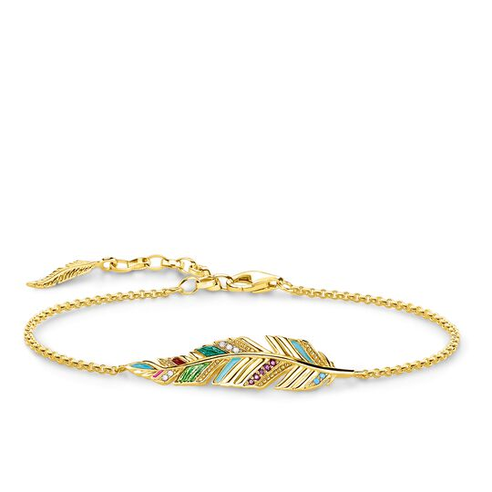 "bracelet ""feather"" from the Glam & Soul collection in the THOMAS SABO online store"