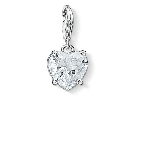 """Charm-Anhänger """"Herz mit weißem Stein"""" aus der  Kollektion im Online Shop von THOMAS SABO"""