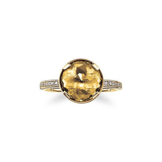 solitair ring solar plexus chakra from the  collection in the THOMAS SABO online store