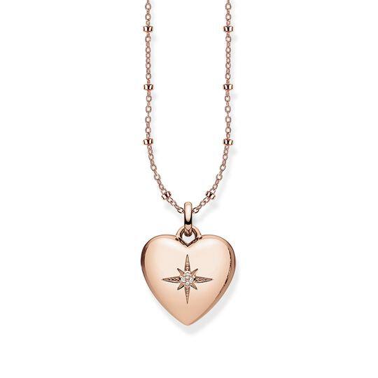 necklace heart locket rosé from the Glam & Soul collection in the THOMAS SABO online store