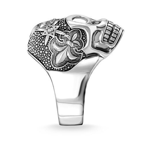 "ring ""Lily Skull"" from the Rebel at heart collection in the THOMAS SABO online store"