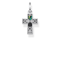 "pendant ""Cross abalone mother-of-pearl"" from the Rebel at heart collection in the THOMAS SABO online store"