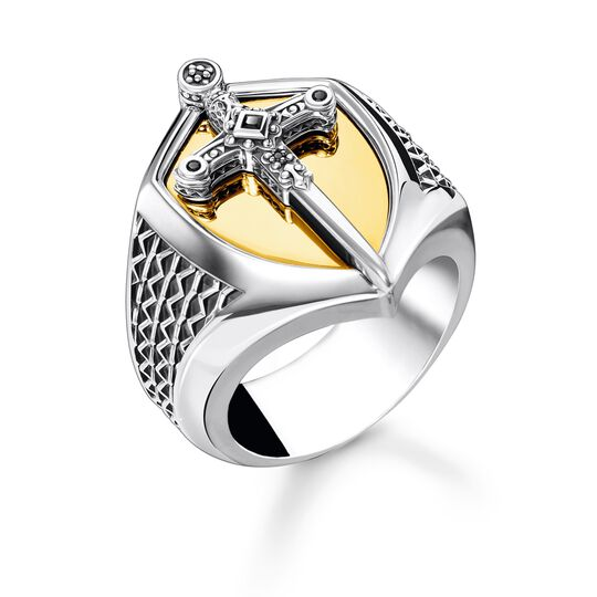 Ring sword gold from the Rebel at heart collection in the THOMAS SABO online store