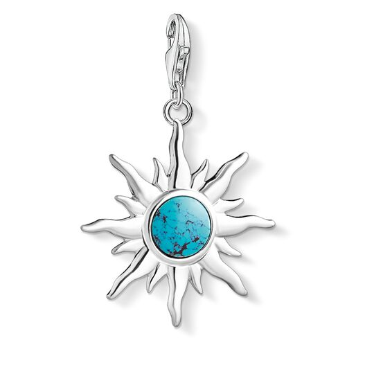 Charm pendant Sun with turquoise stone from the  collection in the THOMAS SABO online store
