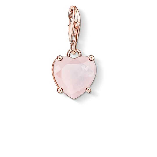 """Charm pendant """"Heart with hot pink stone"""" from the  collection in the THOMAS SABO online store"""