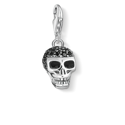 Charm pendant skull pavé from the Charm Club Collection collection in the THOMAS SABO online store
