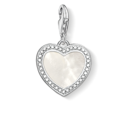 Charm pendant Heart with mother-of-pear from the  collection in the THOMAS SABO online store