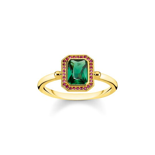 ring Red & green stones, gold from the  collection in the THOMAS SABO online store