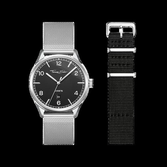 SET CODE TS schwarze Uhr & schwarzes Armband aus der  Kollektion im Online Shop von THOMAS SABO