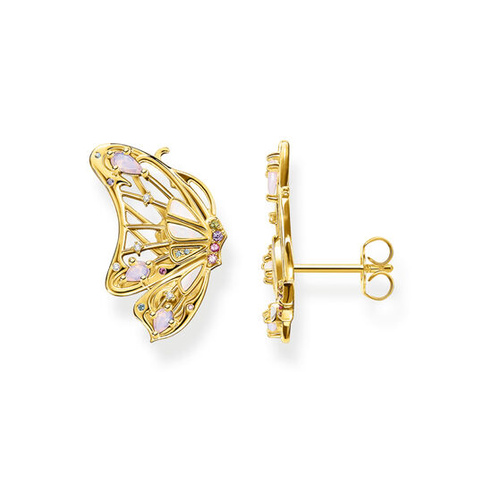 Earrings butterfly gold from the  collection in the THOMAS SABO online store
