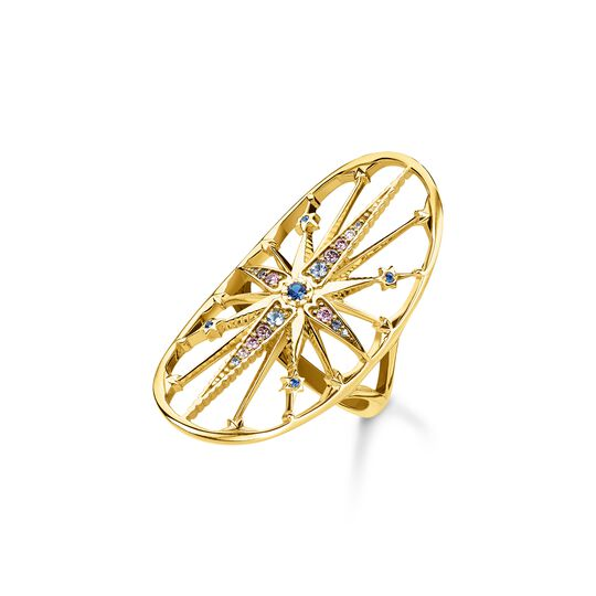 Ring royalty star gold from the  collection in the THOMAS SABO online store