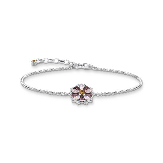 Bracelet flowers colourful stones silver from the  collection in the THOMAS SABO online store
