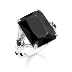 ring Black stone, large, with star from the Glam & Soul collection in the THOMAS SABO online store