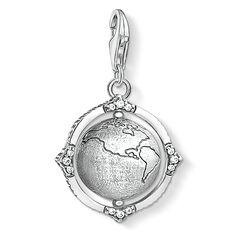 colgante Charm globo terráqueo vintage de la colección  en la tienda online de THOMAS SABO