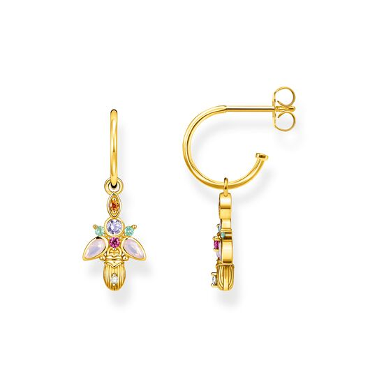 hoop earrings Bug gold from the  collection in the THOMAS SABO online store