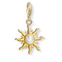 Charm pendant Sun with mother-of-pearl stone from the  collection in the THOMAS SABO online store