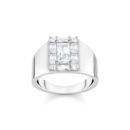 Ring white stone silver from the  collection in the THOMAS SABO online store