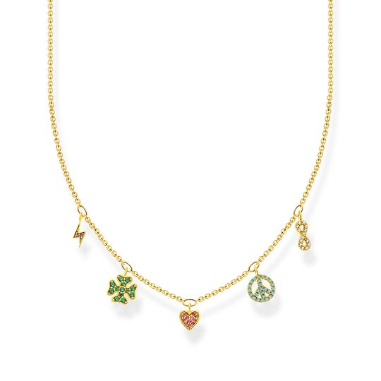 Necklace with symbols multicoloured gold from the Charming Collection collection in the THOMAS SABO online store