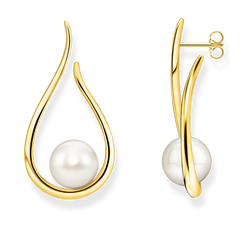 earrings Heritage with gold-coloured pearl from the Glam & Soul collection in the THOMAS SABO online store