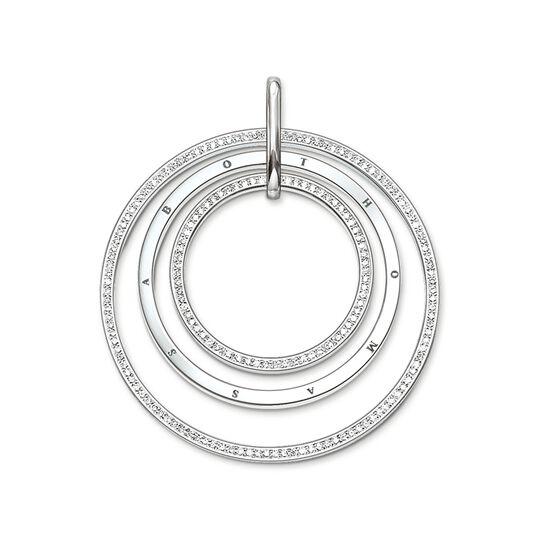 """pendentif """"cercles avec pavé"""" de la collection Glam & Soul dans la boutique en ligne de THOMAS SABO"""