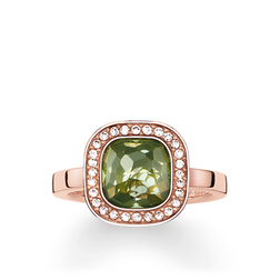 "anello solitario ""Cosmo verde"" from the Glam & Soul collection in the THOMAS SABO online store"