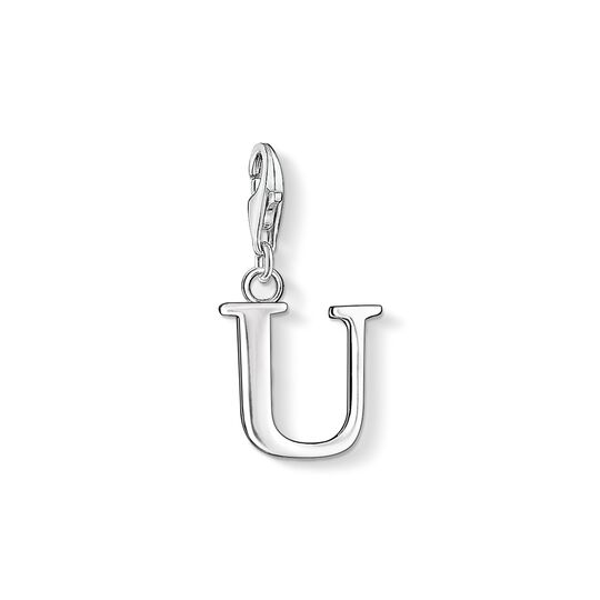 Charm pendant letter U from the Charm Club collection in the THOMAS SABO online store