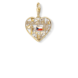 Charm pendant We love Prague gold from the Charm Club Collection collection in the THOMAS SABO online store