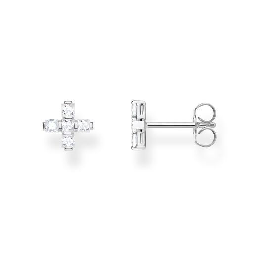 ear studs Cross white from the Glam & Soul collection in the THOMAS SABO online store