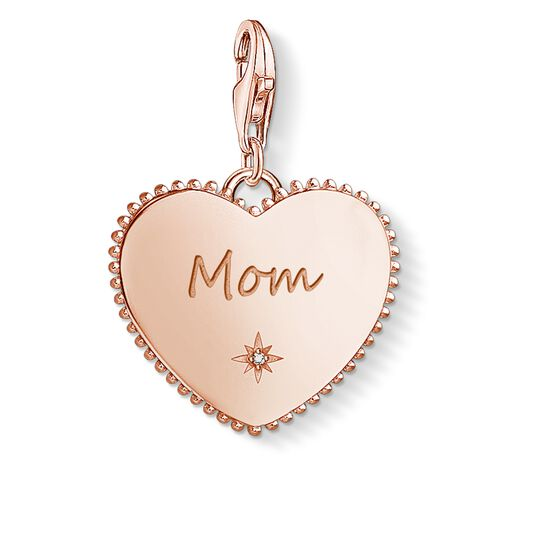 Charm pendant Heart mum rose gold from the  collection in the THOMAS SABO online store