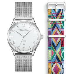 SET CODE TS Reloj blanco & correa patrón colorido de la colección  en la tienda online de THOMAS SABO