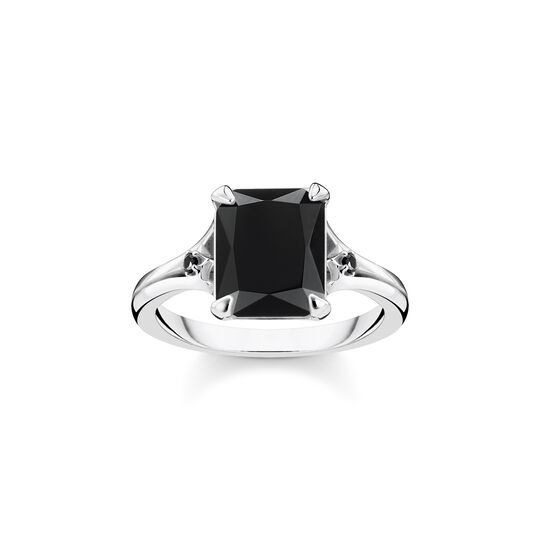 Ring black stone from the  collection in the THOMAS SABO online store