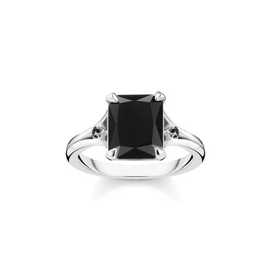 Ring black stone from the Glam & Soul collection in the THOMAS SABO online store
