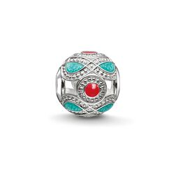 "Bead ""turquoise and red ethnic"" from the Karma Beads collection in the THOMAS SABO online store"