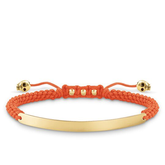 bracelet orange skull from the Love Bridge collection in the THOMAS SABO online store