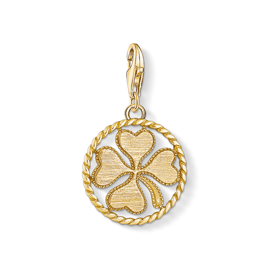 Charm pendant disc cloverleaf from the Charm Club collection in the THOMAS SABO online store