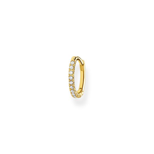 Créoleunique blanche pierres or de la collection Charming Collection dans la boutique en ligne de THOMAS SABO